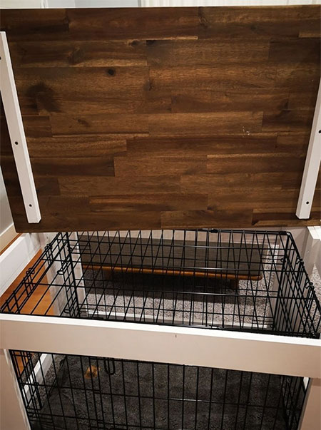 dog crate coffee table with removable lid