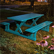 make wooden picnic table