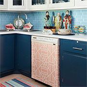 cover appliances with wallpaper