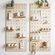 how to make pegboard storage wall