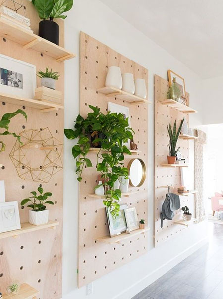 how to make diy pegboard wall