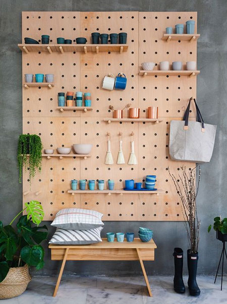 make pegboard wall for display