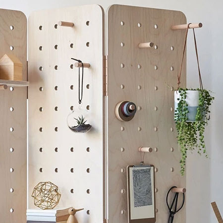 diy pegboard wall designs