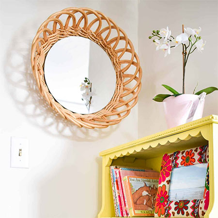 Make Organic Mirror Frames with Rattan, Jute, or Cane