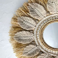use natural materials for mirror frame
