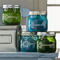 add colour to glass jars