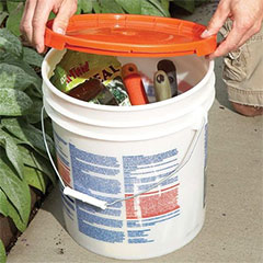 how to upcycle plastic buckets