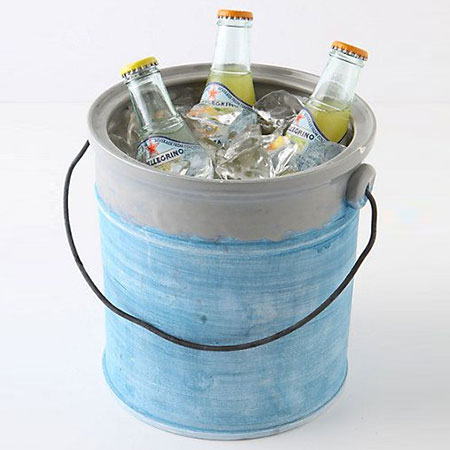recycle paint bucket as cooler for drinks