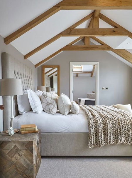 muted colours for bedroom to feel larger