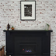 modern makeover for 70s brick fireplace
