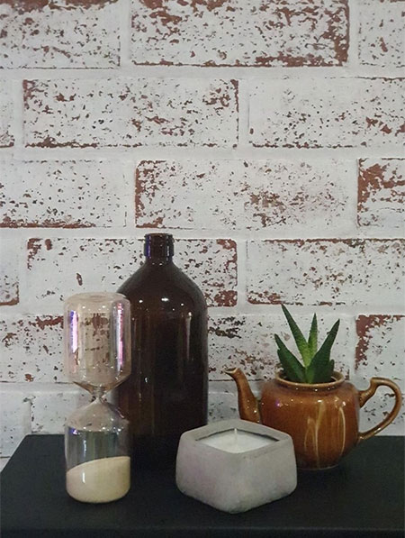 How to Cover Up a Brick Feature Wall