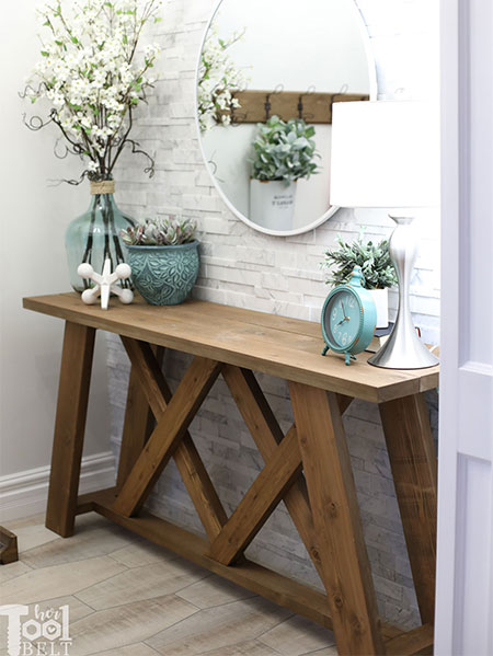 DIY Console Table for Entrance or Hallway