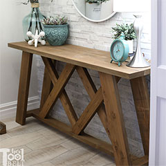 how to make console table