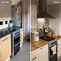 real life kitchen makeover before and after