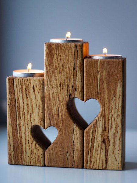 votive candle holder with heart cut out