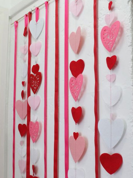 cut out hearts valentines day decor