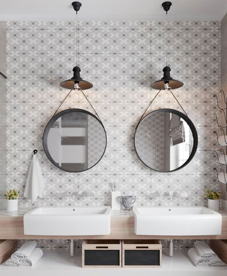 don't install lights above bathroom vanity or mirror