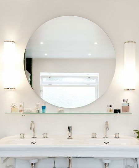 cool or white lighting for bathroom mirror