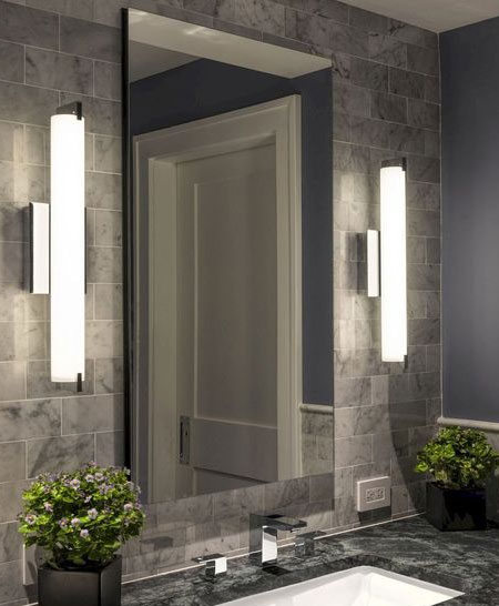 wall lights for bathroom mirror