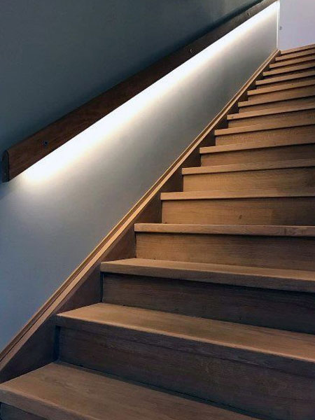 light up a dark staircase with led strip light