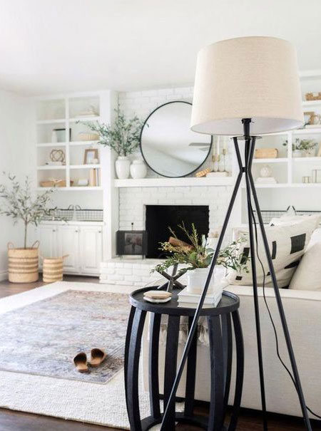 how to whitewash brick or stone fireplace
