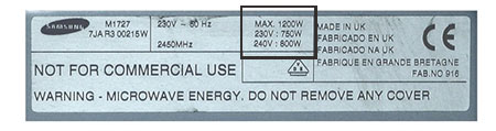 check wattage for appliances