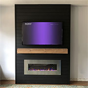 diy build fireplace feature wall