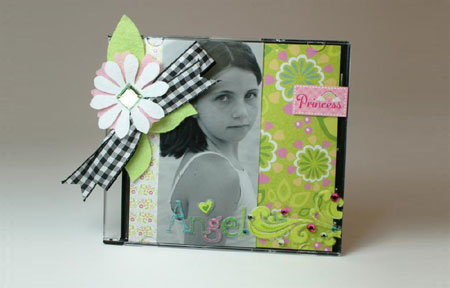 Crafts for tweens picture frame with paper or fabric scraps