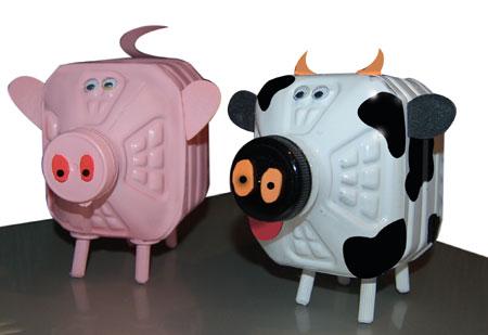 Home Dzine Craft Ideas Farm Animal Money Bank