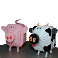 Farm animal money box