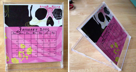 home dzine craft ideas make your own desk calendar