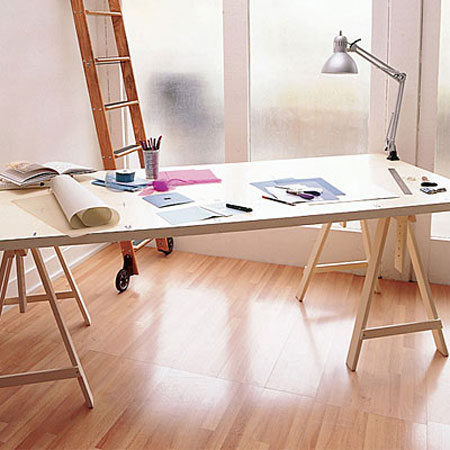 Home Dzine Home Office Hollow Core Door Makes A Great