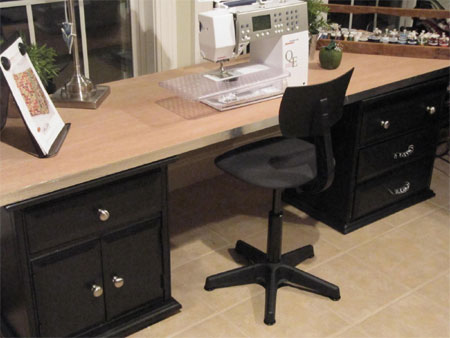 Hollow Core Door Makes A Great Home Office Desk