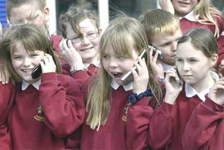 22% of children ages six to nine own a cell phone
