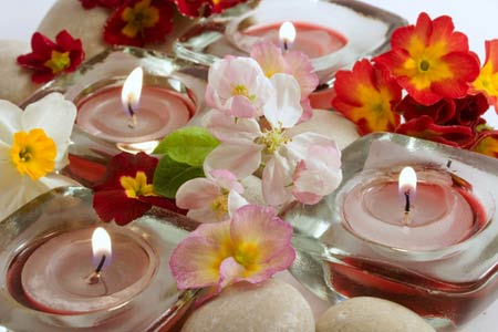 create mood with scented candles