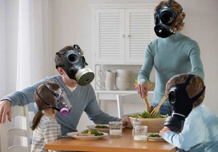 pollution in a home