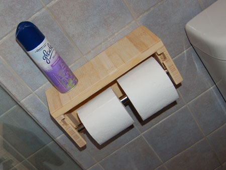 Home Dzine Bathrooms Make A Toilet Roll Holder For 2 Toilet Rolls