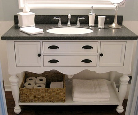 Home Dzine Bathrooms Turn A Cabinet Into A Bathroom Vanity