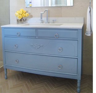 Turn A Cabinet Into Bathroom Vanity