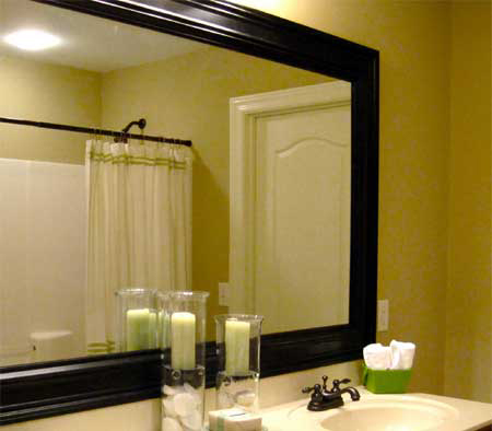 Add Instant Impact To A Bathroom Mirror
