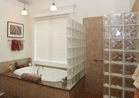 Home Dzine Bathrooms Use Glass Block To Increase Natural