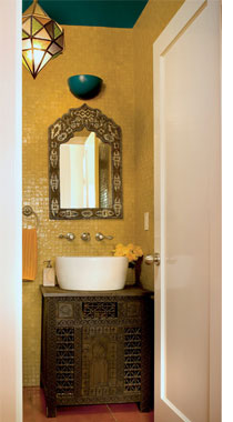 Home dzine bathrooms decorating a guest toilet for Bathroom ideas co za