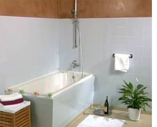 HOME DZINE Bathrooms  Painting tiles for a weekend makeover