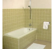 HOME DZINE Bathrooms | Painting tiles for a weekend makeover on what welding rod to use, what concrete to use, what glue to use, what color to use, what shoes to use, what wax to use, what antifreeze to use,