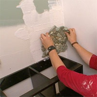 how to cut mosaic tile sheets with a wet saw