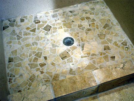 Home Dzine Bathrooms How To Apply Pebble Tile