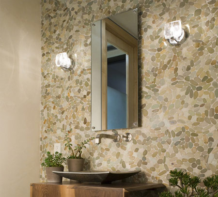 Home Dzine Bathrooms Easy Pebbled Wall