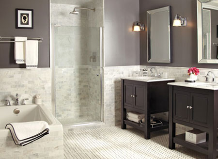 Home dzine bathrooms easy and affordable bathroom ideas Affordable modern bathroom design