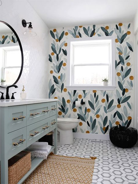 HOME DZINE Bathrooms | Decorating a bathroom in a rented home