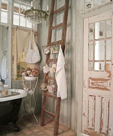 Home dzine bathrooms decorate in shabby chic style for Shabby chic bathroom ideas